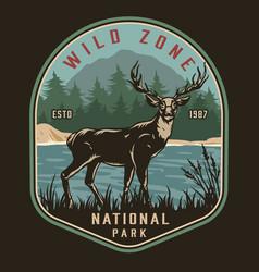 national park vintage colorful logo vector image