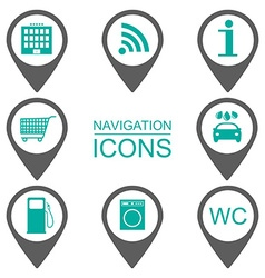Navigation icons Silhouette icons Scope of vector