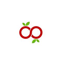 nfinity fruit logo icon design vector image