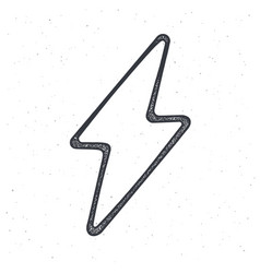 outline electric lightning bolt thunderbolt vector image