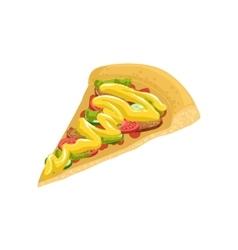 Pizza Slice Street Food Menu Item Realistic vector