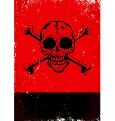 poster with skull vector image