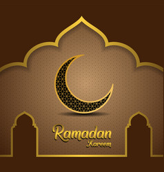 Ramadan kareem background with mosque dome vector