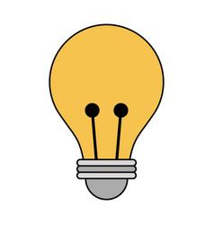 regular lightbulb icon image vector image