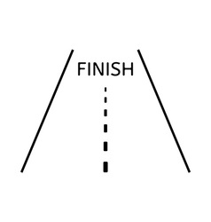 Road and finish vector