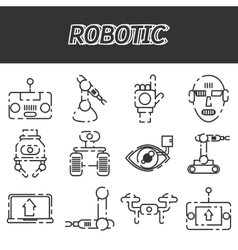 Robotic icon set vector image