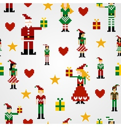 Seamless Christmas pattern background vector