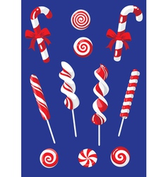 Set of Christmas candy vector