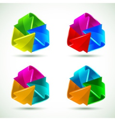 Set of colorful arrows icons vector
