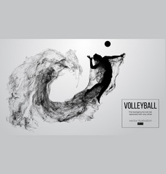 silhouette of a volleyball player man boy male vector image