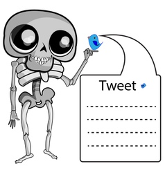 Skeleton with label vector