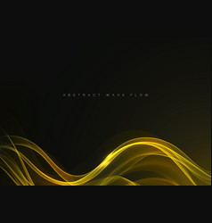 smoky yellow waves backgroundyellow wave flow vector image