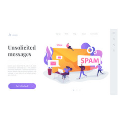 Spam landing page template vector