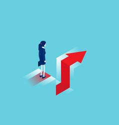 Standing on edge gap business challenge vector