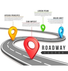 Street road map for business infographics vector