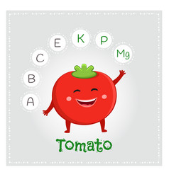 Tomato vegetable vitamins and minerals vector