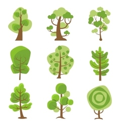 Tree Logo Cartoon Decorative Icons vector image