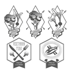 vegan set design elements vector image