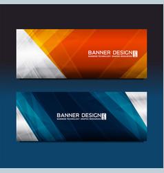 Web banner polygon design vector