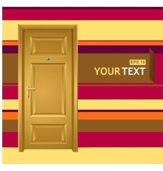 yellow door in the wall for text vector image