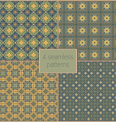 4 different seamless patterns tiling Endless vector image