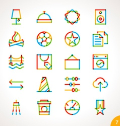 Highlighter Line Icons Set 7 vector image vector image
