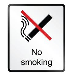 No Smoking Information Sign vector image vector image