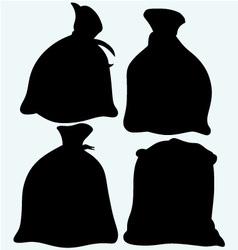 Set sacks of grain vector image vector image