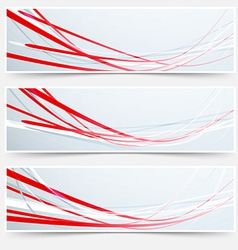 Bright red speed rapid swoosh stream line header vector image vector image
