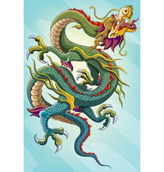 chinese dragon painting vector image vector image