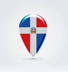 Dominicana icon point for map vector image