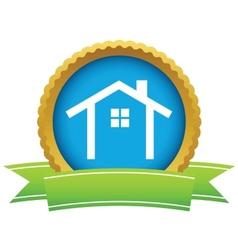 Gold building logo vector image vector image