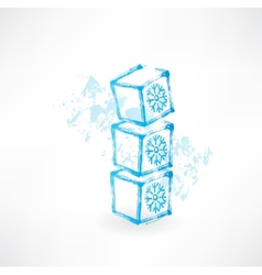 Kids cubes grunge icon vector image vector image