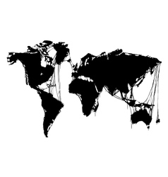 abstract grim world map halloween background vector image vector image