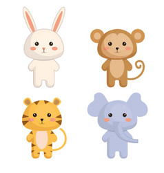 cute and tenders animals vector image
