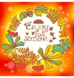 Fall season vector image