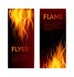 Flame banners set vector image vector image