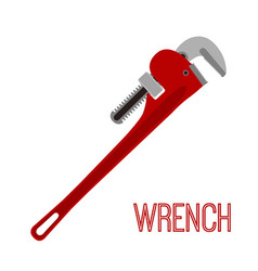 wrench instrument toolcartoon flat style vector image vector image