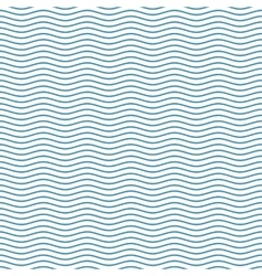 Blue seamless wavy line pattern vector image vector image