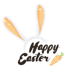 happy easter holiday greeting card vector image