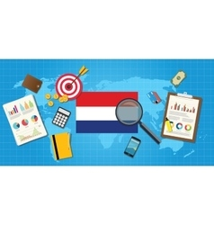 Holland netherland economy economic condition vector