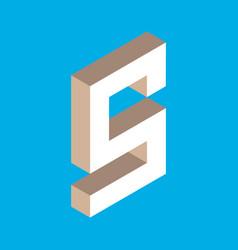 Isometric letter s vector