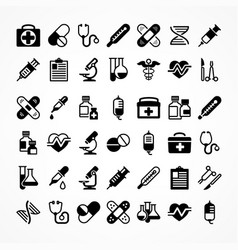 set of medical icons vector image vector image