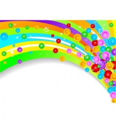 vector colorful background with circles vector image vector image