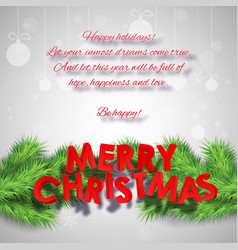 abstract merry christmas poster vector image