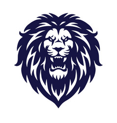 angry lion head logo icon sports mascot vector image