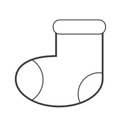 Baby socks icon vector
