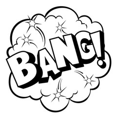 bang word comic book coloring vector image