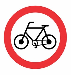bicycle traffic sign vector image