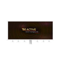 billboard with design shiny golden text be vector image
